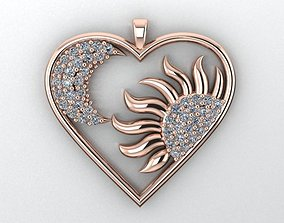heart necklace 3D printable model