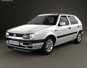 Volkswagen Golf 1993 3D model