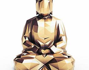Buddha 4 Low Poly 3D asset
