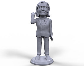 Marine Le Pen stylized high quality 3D printable