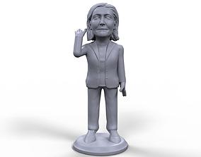 Marine Le Pen stylized high quality 3D printable