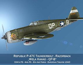 Republic P-47C Thunderbolt - Wela Kahao - QP-B 3D model