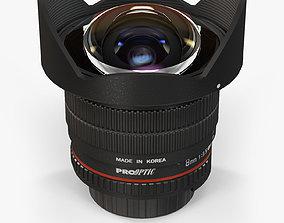 3D model proOPTIC 8mm f 3-5 AS IF UMC Fish-eye CS II AE 2