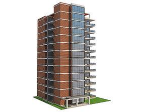 3D Apartment Building 12