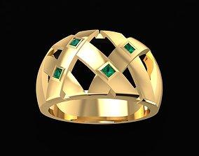 1572 Diamond Men ring 3D print model