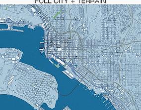 San Diego with Terrain 3D