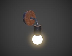 Night Lamp Wall Mounted 3D asset