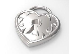 3D print model Locked Heart