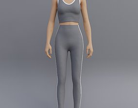 3D Female Yoga outfit - tracksuit