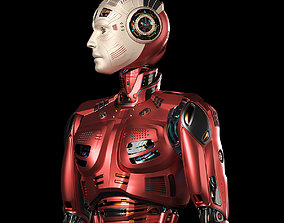3D Futuristic Robot Man 2-5B Rigged