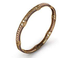 Gold bangle 13 3D printable model