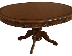 Wooden table with carvings 1500 3D model