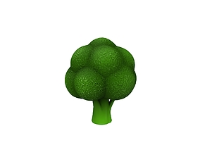 Broccoli 3D model vegetable