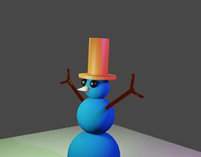 ICE DOLL SNOW MAN 3D model