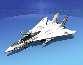 3D model Grumman F-14D Tomcat T13a vf142