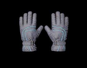 3D asset Winter Sledge Gloves