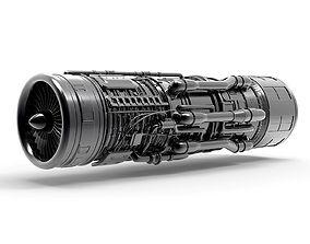 propeller Aircraft Engine 3D model