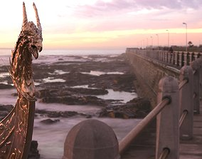 Viking Boat dragon bust 3D