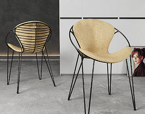 metal 3D model Chair Joli Wire