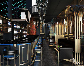 3D animated Luxury Bar and Cafe Design