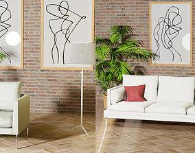 3D model Zanotta william couch sofa plus a free Metrica 1