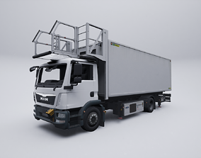 3D model animated Airport Catering Truck