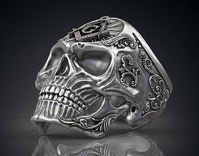 Ring Masonic Skull Freemasons Ring STL 3d model for 3d 1