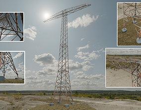 Transmission Tower 32 Meter Rusty Version 3D model
