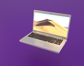 3D asset Macbook laptop cartoon style model