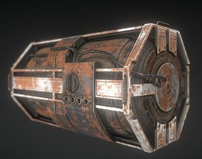 3D model Futuristic Backup Generator Rusty Version - 8K