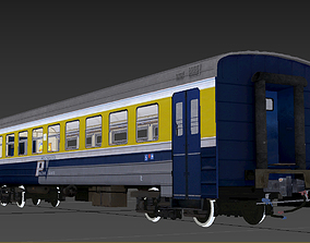 animated ER-2 EMU Passenger Wagon 3D model