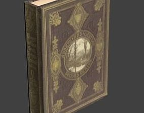 Low poly 3d model book low-poly