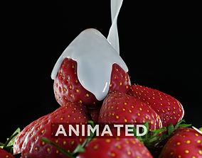 3D Strawberry Fluid