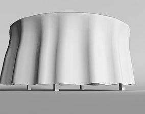 Banquet table low 3D model