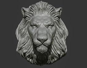 Lion Head Pendant 2 3d print model