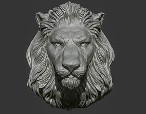 Lion Head Pendant 2 3d print model download