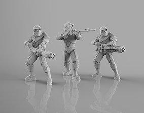 3D printable model Havok Trooper Heavy Weapons Team