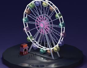 3D asset Ferris Wheel - LOWPOLY