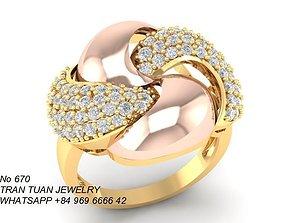 670 Diamond Ring 3D printable model