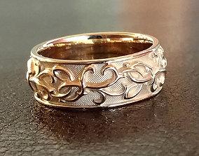 3D print model Thistle wedding rings - original