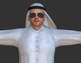 3D model Rigged Arab man high quality