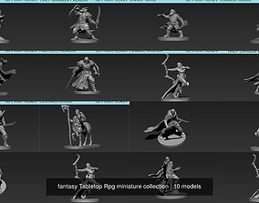 3D model fantasy Tabletop Rpg miniature collection