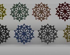 Snowflake 3D print model snow