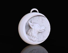 Dog bas-relief 3D print model