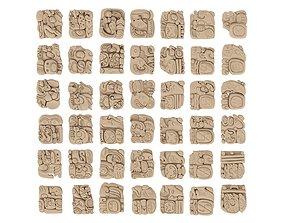 3D Mayan Alphabet