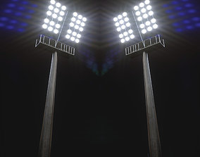 3D model game-ready Stadium light