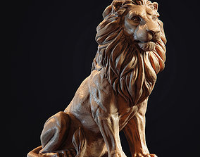 Lion Sculpture 3d print model miniatures