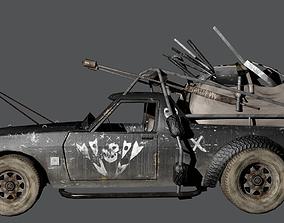 3D asset Post-apocalyptic car