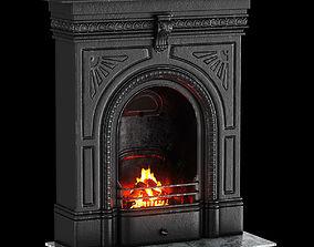 Victorian Cast Iron Fireplace 3D
