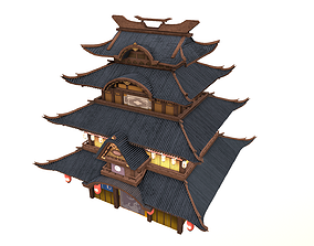 Korean Temple 3D model